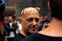 (O Phil des Contrastes) Tags: grève strike sncf faces visages wokers color bw street urban people paris cheminots