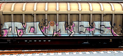 graffiti on freights (wojofoto) Tags: amsterdam nederland netherland holland cargotrain freighttraingraffiti freighttrain fr8 vrachttrein graffiti streetart wojofoto wolfgangjosten tomes
