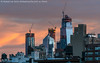 Hudson Yards Sunrise (20180620-DSC08455) (Michael.Lee.Pics.NYC) Tags: newyork hudsonyards sunrise architecture construction cityscape skyline rooftops watertanks curtainwall glass reflection windows sony a7rm2 fe70300mmg