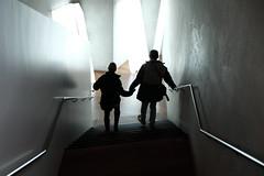 two descending (jhnmccrmck) Tags: stairwell stairs two silhouette xt1 classicchrome fujifilm ngvaustralia victoria 3000 melbourne iminexplore