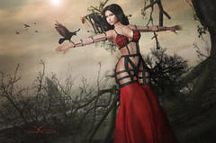 # ♥520 * The Crow (sophieso.demonia) Tags: tableau vivant kinky muka zibska foxcity vanilla bae