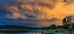 Teco_180508_5422-Pano (tefocoto) Tags: clouds embalse españa landscape madrid nature nubes pablosaltoweis paisaje reservoir spain storm teco tormenta valmayor