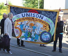 East Dunbartonshire Council Protest. (Paris-Roubaix) Tags: nhs glasgow clyde cvs unison unite east dunbartonshire strike protest kirkintilloch council chambers southbank marina