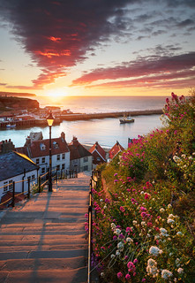 Whitby Steps - Summer Solstice Sunset