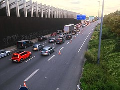 Stuck on the ring road (LUMEN SCRIPT) Tags: pov perspective lines red france colours urbanphotography transport traffic road