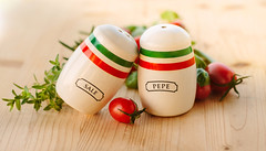 Always together (Inka56) Tags: twins flickrfriday saltandpepper cherrytomatoes thyme basil