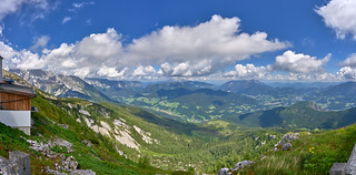 Panorama View from Watzmannhaus - National Park Berchtesgaden, Bavaria