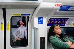 Assistance from Staff (stevedexteruk) Tags: london waterloo carriage tube 2018 billboard passenger door zoopla