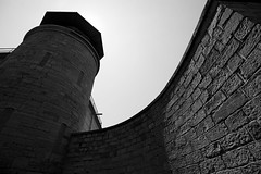 Guard Tower (Brad_McKay) Tags: ifttt 500px prison wall jail institution old 19th century stone guard tower black white canada ontario kingston prisoner