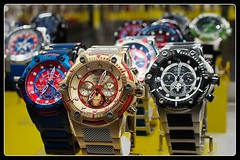 Watch in Focus (PEN-F_Fan) Tags: microfourthirds mft m43 mirrorless raw austin texas unitedstates rokinon12mmf20ncscs olympuspenf manualfocuslens photoborder photoedge photoframe olympus displaycase display watches invicta primelens bokeh shallowdepthoffield