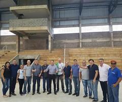 Fiscalização do andamento da fase final das obras do Complexo Esportivo na cidade de Matelândia (PR).