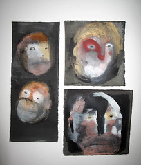 Primate Portrait Sketches Togeher (benconservato) Tags: benconservato emmakidd painting art illustration primate portrait artbrut sketch paint