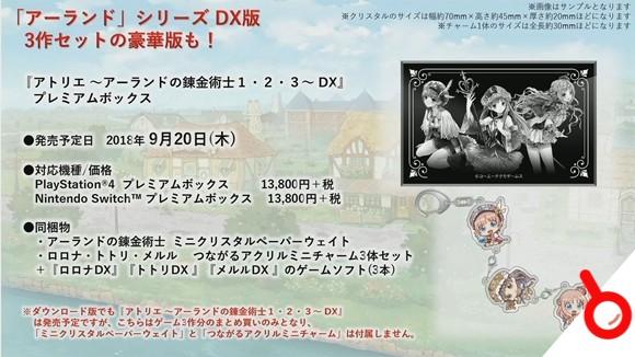 《羅羅娜/托托莉/梅露露的工作室DX》宣布復刻