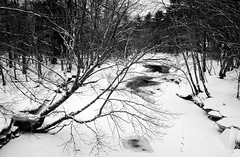 The Crooked River, Maine (jtr27) Tags: dscf7333xl jtr27 fuji fujifilm xt20 xtrans xf 1855mm f284 rlmois lm ois kitlens kitzoom crookedriver crooked river winter snow maine newengland highcontrast