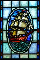 Stained Glass Tall Ship (J D'Angelo) Tags: gx85 panasonic ship tallship waves stainedglass old panasoniclumixgx85 lumix psp16 paintshoppro topaz topazadjust colors colorful art sails water