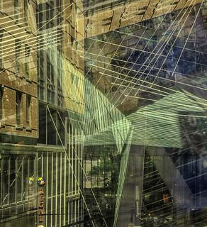Geometric Architectural Chaos Multi-Exposure, In Camera Capture