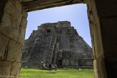 """The pyramid of the dwarf"" / ""Пирамида карлика"" (Vladimir Zhdanov) Tags: travel mexico yucatan sky ancient architecture building maya uxmal pyramid people grass ruins"