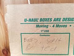 Matt does moving (quinn.anya) Tags: moving uhaul box label books salt tea