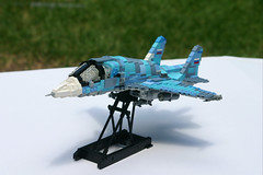 Sukhoi SU-34 Medium-Range Fighter/Bomber (ModernBrix) Tags: sukhoi su34 su 34 attack fighter jet vehicle military lego russia russian medium range bomber fighterbomber air force modernbrix bricks moc
