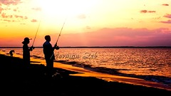 Fishing at Keansburg, NJ (a2roland) Tags: normanzeba2rolandyahoocoma2roland keansburg nj new jersey sunset sunrise water sunny waves silhouette ocean old orange glow golden hour