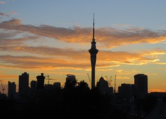 Auckland, NZ - Ponsonby View to City at Dawn (zorro1945) Tags: auckland nz newzealand ponsonby sunrise morninglight cbd aucklandcbd silhouette flickrtravelaward