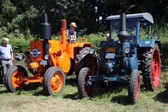 Brothers (dididumm) Tags: iame industriasaeronáuticasymecánicasdelestado pampa lanzbulldog copy orange blue vintage tractor oldtimer traktor schlepper alt nachbau blau dittmerstreckerundhoffest sprockhövel nrw germany