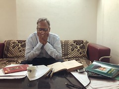 The Portrait of a Distressed Scholar Rushing to Meet a Deadline... But Just How (Mayank Austen Soofi) Tags: the portrait distressed scholar rushing meet deadline but just how