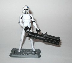 arf trooper star wars the clone wars cw18 blue black packaging basic action figures 2010 hasbro 2p (tjparkside) Tags: arf trooper troopers star wars clone blue black packaging card cardback cw18 cw 18 2010 hasbro basic action figure figures soldier republic army display stand base galactic battle game advanced reconaissance fighter fighters atrt rt all terrain recon transport blaster pistol rifle weapon weapons chaingun projectile missile tcw