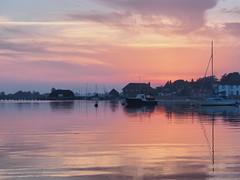 "Blushing Bosham (Say ""Wasabi"") Tags: sunset pink landscape scenery olympus m43 mzuiko714 em1ii beautiful village water sea clouds reflections boats sussex chichester bosham harbour"