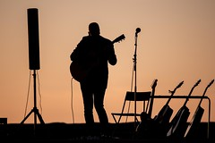 Goodnight Sun!! (mArt Image) Tags: outdoor sunset music guitar player sea breeze cozy street nikon d810 silouette
