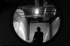 museum (Karen Espinosa) Tags: shadow light walls circle luz sombras person persona circulo