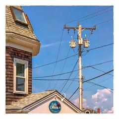 Coffee Obsession (Timothy Valentine) Tags: 2018 0718 large sky window sign telegraphtuesday falmouth massachusetts unitedstates us woodshole