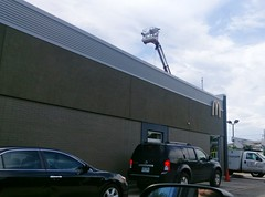 Drive-thru after view, and curious contraption overhead (l_dawg2000) Tags: 2018remodel churchrd landerscenter posteyebrow remodel southaven mississippi unitedstates usa