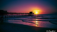 Sunrise from the Cocoa Beach Pier! (Edale614) Tags: sunrise dawn nature naturelovers sunsetsaroundtheworld wanderlust aroundtheworld cocoabeach florida ocean ocenside reflection waves beach earl614 explore inexplore