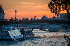 Paris sunsets are okay I guess along the Seine.