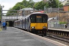 318267 2V37 12:59 Cumbernauld to Dumbarton Central; Springburn; 16-06-2018 (graeme8665) Tags: abellioscotrail scotrail springburn emu
