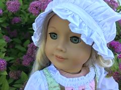 1. Caroline (Foxy Belle) Tags: caroline american girl ag 18 inch doll mud outside garden flowers 19th century farmer farm