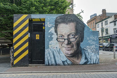 Anthony H Wilson (dlsmith) Tags: manchester mcr tonywilson factoryrecords neworder joydivision graffiti northernquarter nq street hdr photomatix anthonyhwilson hacienda industrial