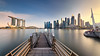 Marina Full View (Scintt) Tags: singapore mbs marina bay water clarity long exposure slow shutter filter golden sunset sun sky clouds dramatic travel tourist attraction exploration movement motion skyline cityscape city urban modern structures architecture buildings offices shenton way cbd scintillation scintt jonchiangphotography hall iconic surreal epic wideangle nikon 1424 haidafilter neutraldensity still calm glow light tones rafflesplace nature pond pool pink dusk twilight waterfront bridge sands panorama stitched pier jetty jubilee