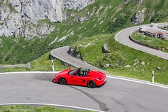 981 Boxster Spyder (Nico K. Photography) Tags: porsche 981 boxster spyder red supercars rare nicokphotography switzerland klausenpass