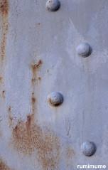 Blue Dots (rumimume) Tags: potd rumimume 2018 niagara ontario canada photo canon 80d sigma rust metal bridge close closeup industrial blue