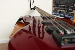 bass guitar (kokoschka's doll) Tags: bass guitar reflection rack studio