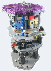 Cyberpunk City (UrAsSaneAsIAm) Tags: lego cyberpunk city slum junkyard layers