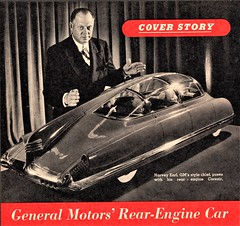 GM Corsair Article, First Page (aldenjewell) Tags: 1949 gm general motors concept car rear engine corsair mechanix illustrated magazine article