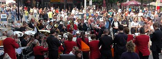 Paul Voet conducts the  joint forces of Brass Band Ghent and Cranbrook Town Band
