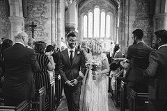 John and Charlotte (Robbie Khan) Tags: portrait portraiture wedding bride groom marriage married happy smiles laugh 35mm church bosham couple weddingday canon