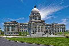Idaho State Capitol, 700 W Jefferson Street, Boise, Idaho, USA / Completed: 1912, 1920 (Wings) / Architects: John E. Tourtellotte & Charles Hummel / Height: 208 feet (63 m) / Floor area: 201,720 sq ft (18,740 m2) (Photographer South Florida) Tags: idahostatecapitol 700wjeffersonstreet boise idaho usa completed1912 1920wings johnetourtellotte charleshummel height208feet63m floorarea201 720sqft18 740m2 historical