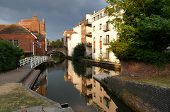 Sunshine and cloud (ian con) Tags: water canals