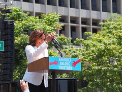 U.S. Sen. Kamala Harris speaks at L.A.'s Families Belong Together March (lukeharold) Tags: families belong together gavin newsom kamala harris