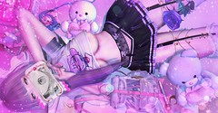 Plz Notice Me Senpai! (.❤.ρµmþkïñ.❤.) Tags: noticemesenpai notice me senpai kawaii pink neon purple cute dollbaby doll